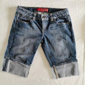 Guess Stretch Cuffed Jean Shorts Size 30